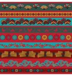 Ethnic japan elements vector