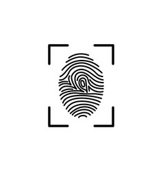 Fingerprint icon identification vector