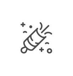 Firecracker line icon vector