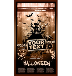 hallowen party flyer vector image