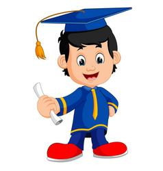 happy boy after graduation vector image