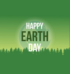 Happy earth day on green background vector
