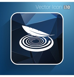 icon fabric button isolated soft white symbol vector image vector image