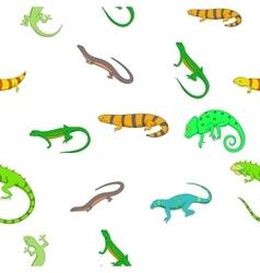 Iguana pattern cartoon style vector