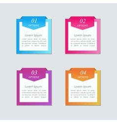Infographic Text box vector image