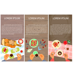 Menu for sweet table vector