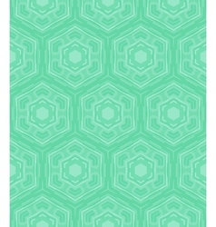 Mint green geometric pattern in 60s style vector image