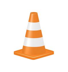 orange traffic cone vector image