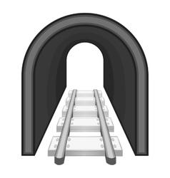 Rails icon black monochrome style vector