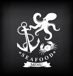 Seafood menu vector