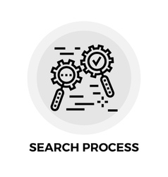 Search Process Line Icon vector image