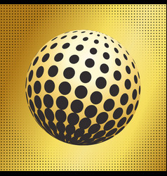Set abstract halftone 3d spheres 33 vector