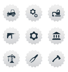 Set of simple industrial icons vector