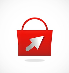 Shopping bag online logo vector