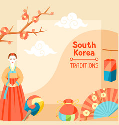 South korea traditions korean banner design with vector