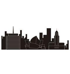 sydney cityscape silhouette vector image