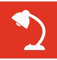 The table lamp icon Reading-lamp and lighting vector image