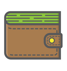 Wallet filled outline icon business and finance vector