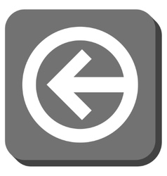 Direction left rounded square icon vector