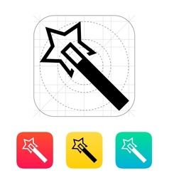 Flash magic wand icon vector