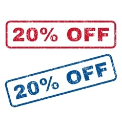 20 percent off rubber stamps vector