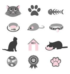 Pet icon set vector