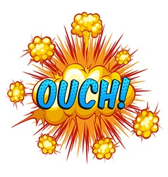 Ouch vector image