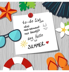 summer to do list vector image