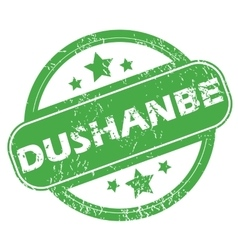 Dushanbe green stamp vector