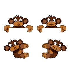Monkey frame decoration vector