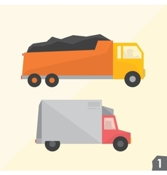 Trucks transportation set 1 vector