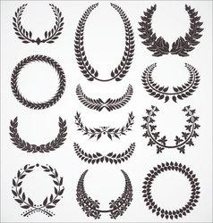 Laurel wreath set vector