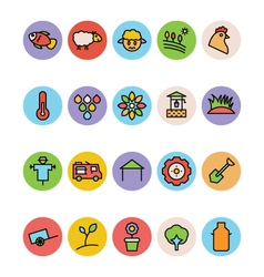 Agriculture icons 5 vector