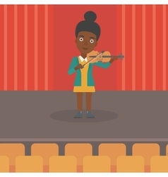 Woman playing violin vector