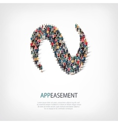 Appeasement people 3d vector
