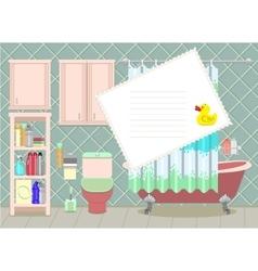bathroom card vector image vector image