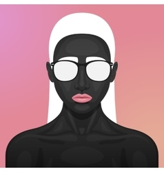 Beauty woman with glasses on her face vector