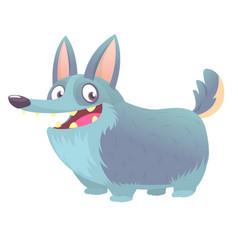 Cute cartoon drawing of corgi dog vector