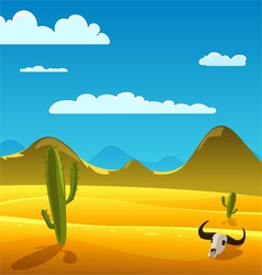 Desert cartoon landscape vector