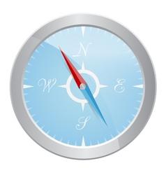 Design of silver compass vector