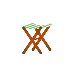 Folding wooden chair in retro design vector