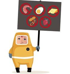 Food allergies vector image vector image