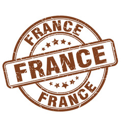 France brown grunge round vintage rubber stamp vector