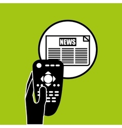 hand control tv news icon design vector image