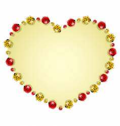 ladybugs forming heart vector image vector image