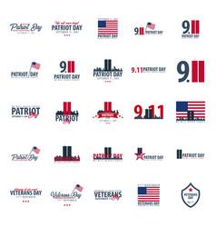 Patriot day emblems or logo september 11 we will vector