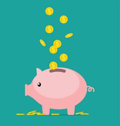 Pig piggy bank vector