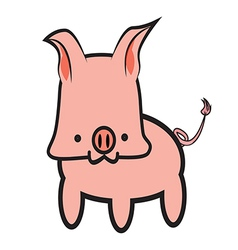 Pink Pig Graphic vector image