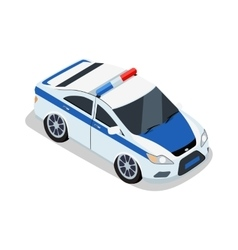 Police car in isometric projection vector