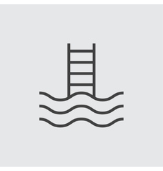 Pool stairs icon vector image